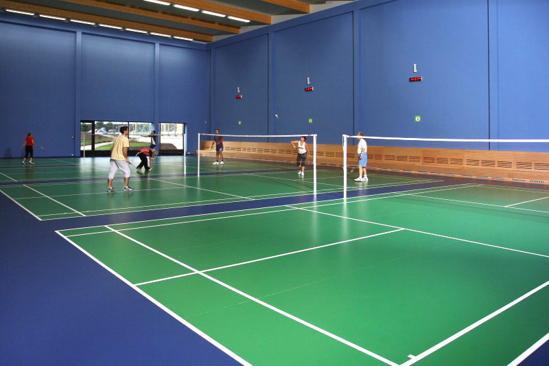 how to make badminton court lines